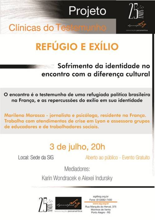 30.06.2014 Evento Clinica do testemunho